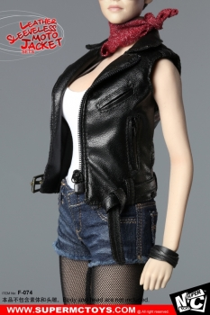 1:6 Leather Sleeveless Moto Jacket Sets