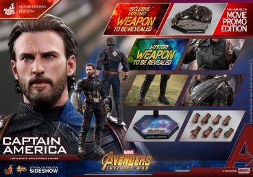 Avengers Infinity War Movie Masterpiece Actionfigur 1/6 Captain America Movie Promo Edition 31 cm