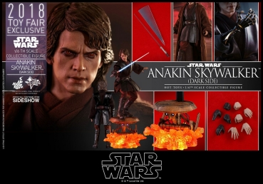 Star Wars Episode III MMS Actionfigur 1/6 Anakin Skywalker Dark Side 2018 Toy Fair Exclusive 31 cm