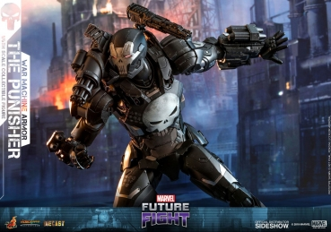 Marvel Future Fight Video Game Masterpiece Actionfigur 1/6 The Punisher War Machine Armor 32 cm |HOT TOYS