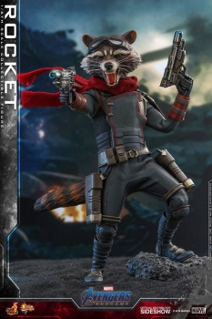 HOT TOYS | Avengers: Endgame Movie Masterpiece Actionfigur 1/6 Rocket 16 cm