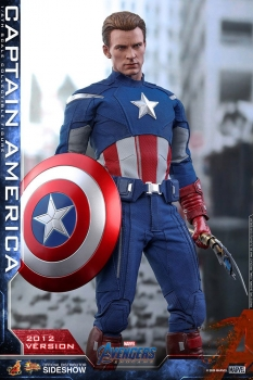 HOT TOYS | Avengers Endgame Movie Masterpiece Actionfigur 1/6 Captain America (2012 Version)