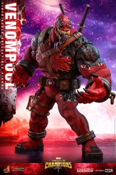 HOT TOYS | Marvel: Sturm der Superhelden Video Game Masterpiece Actionfigur 1/6 Venompool 37 cm