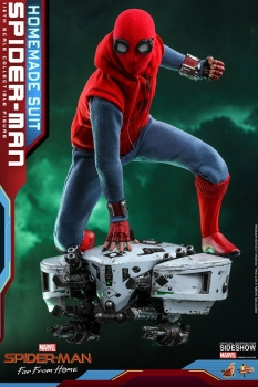 HOT TOYS | Spider-Man: Far From Home Movie Masterpiece Actionfigur 1/6 Spider-Man (Homemade Suit) 29 cm