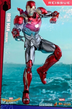 | HOT TOYS Spider-Man Homecoming Movie Masterpiece Diecast Actionfigur 1/6 Iron Man Mark XLVII Reissue