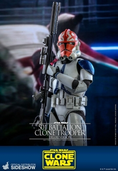 |HOT TOYS - Star Wars The Clone Wars - 501st Battalion Clone Trooper (Deluxe)