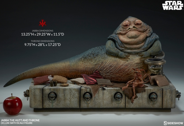 Star Wars Episode VI Actionfigur 1/6 Jabba the Hutt & Throne Deluxe 34 cm