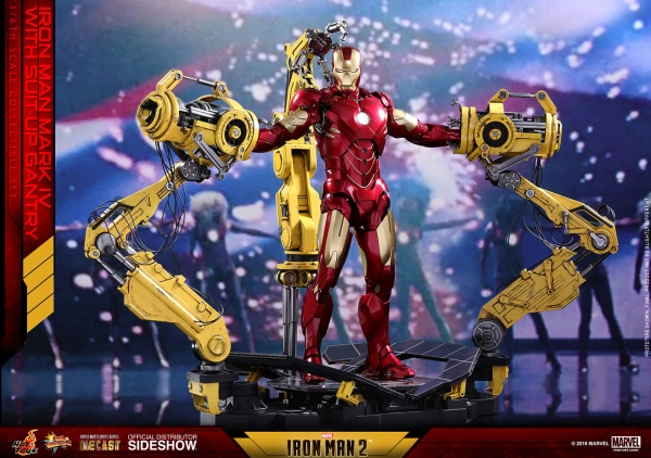 Iron Man 2 Diecast Movie Masterpiece Actionfigur 1/6 Iron Man Mark IV & Suit-up Gantry 32 cm