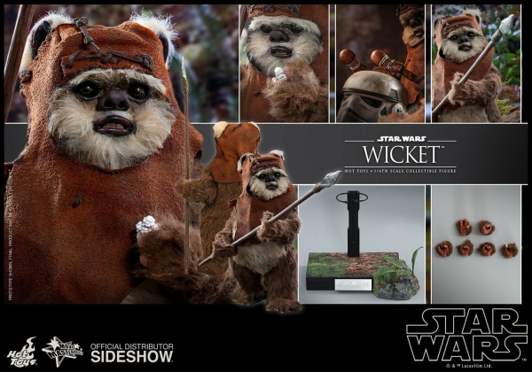 HOT TOYS | Star Wars Episode VI Movie Masterpiece Actionfigur 1/6 Wicket 15 cm